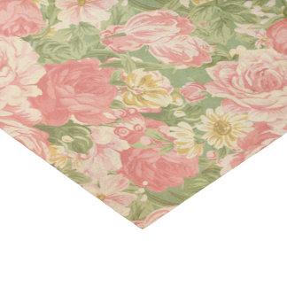 Vintage floral papel de seda