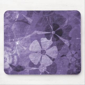 Vintage floral roxo mouse pad