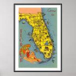 Vintage Florida, EUA - Impressão
