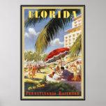 Vintage Florida, EUA - Poster