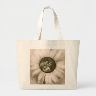 Vintage Flower and couple picture Sacola Tote Jumbo