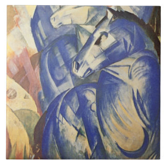Vintage Franz Marc a torre de cavalos azuis