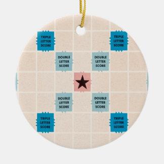 Vintage Gamboard do Scrabble Ornamento