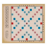 Vintage Gamboard do Scrabble Poster