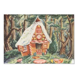 Vintage Hansel e Gretel, mudança de endereço Convite Personalizado