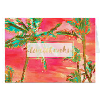 Vintage Havaí/obrigado de PixDezines você Cartão Comemorativo