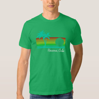 Vintage Havana, Cuba - design afligido Camiseta