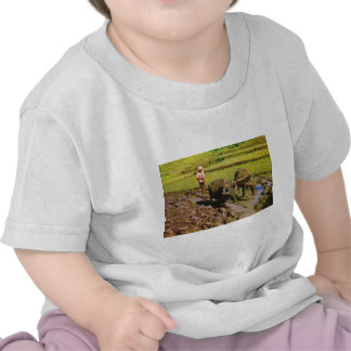 Vintage Indonésia templos e agricultura Java T-shirt