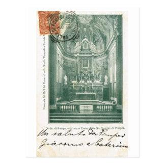 Vintage Italia Altare di Pompeia de Valle igrej Cartao Postal