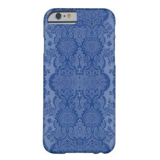 Vintage laçado floral no azul médio capa barely there para iPhone 6