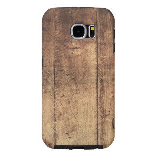 vintage legal textura de madeira riscada capa para samsung galaxy s6