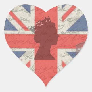 Vintage Londres Adesivo Coração