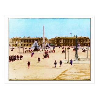 Vintage Lugar de la Concorde, cartão de Paris