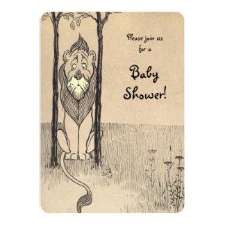 Vintage mágico de Oz, chá de fraldas Cowardly do Convite 12.7 X 17.78cm