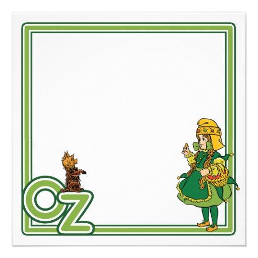 Vintage mágico de Oz; Dorothy e Toto Convite Personalizados