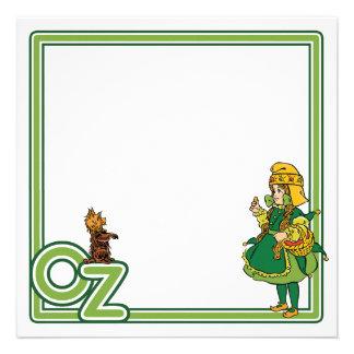 Vintage mágico de Oz Dorothy e Toto Convite Personalizados