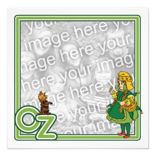 Vintage mágico de Oz; Dorothy e Toto Convites
