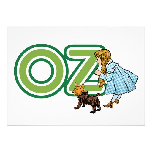 Vintage mágico de Oz; Dorothy Toto com letras onça Convite Personalizados