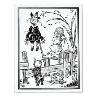 Vintage mágico de Oz; Espantalho da reunião de Convite