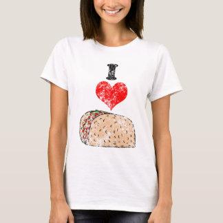 Vintage mim camisa do Tacos do coração