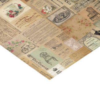 Vintage no impressão papel de seda