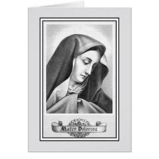 Vintage nossa senhora do católico das amarguras cartão comemorativo