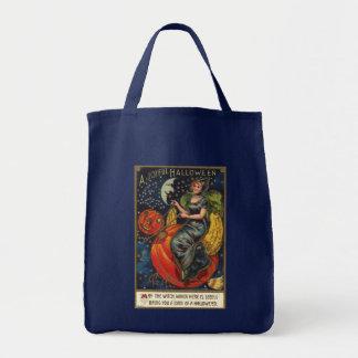 Vintage o Dia das Bruxas Bolsa De Lona