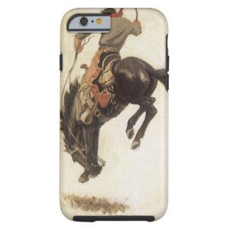 Vintage ocidental, vaqueiro em um cavalo Bucking Capa Tough Para iPhone 6