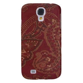 Vintage Paisley vermelho 3G/3GS Capas Samsung Galaxy S4