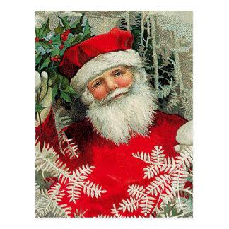 Vintage Papai Noel Cartão Postal