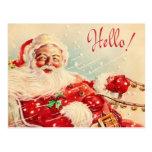 Vintage Papai Noel Cartoes Postais