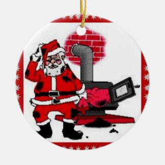 Vintage Papai Noel & um ornamento do queimador do