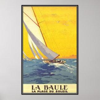 Vintage Pays de la Loire, La Baule, France - Poster
