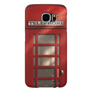 Vintage Phonebox vermelho britânico Capas Samsung Galaxy S6