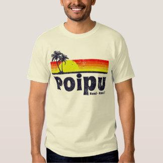 Vintage Poipu Kauai Havaí Camiseta