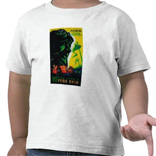 Vintage PosterEurope de Gran Premio Pena Rhin T-shirt