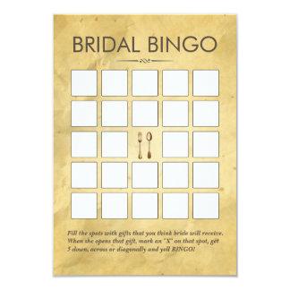 Vintage que janta cartões do Bingo do chá de Convite 8.89 X 12.7cm
