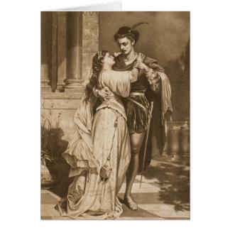 Vintage Romeo e cartão do dia dos namorados de