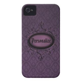Vintage roxo gótico capa de iphone 4 personalizado capinha iPhone 4