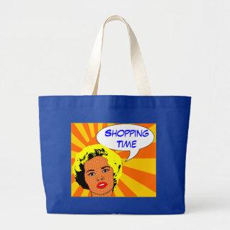 vintage, saco cómico retro bolsas para compras