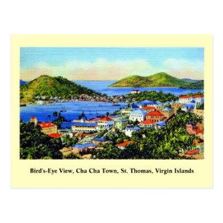 Vintage St Thomas Virgin Islands Cartão Postal