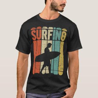 Vintage surfando camiseta