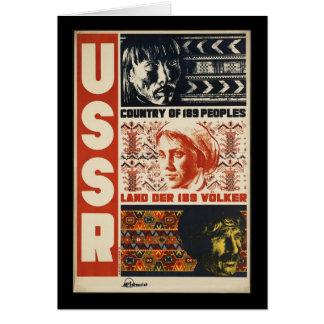 Vintage URSS Cartão Comemorativo