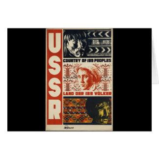 Vintage URSS Cartao