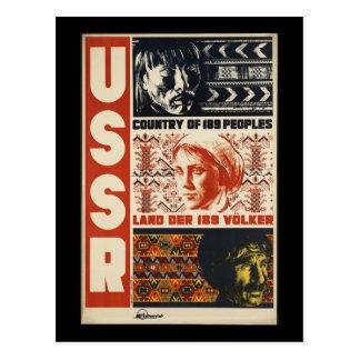 Vintage URSS Cartão Postal