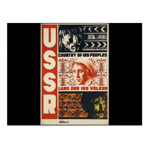 Vintage URSS Cartao Postal