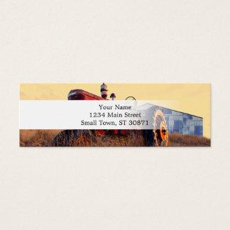vintage vermelho da máquina do trator velho cartão de visitas mini