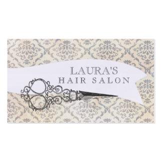 Vintage Wallpaper Scissors Hair Salon Business Business Cards