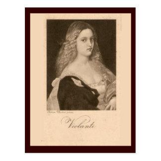 Violante, espanhol, cerca de 1906 cartão postal