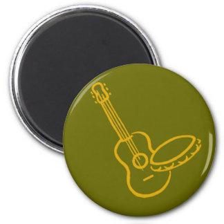 violão e pandeiro ímã redondo 5.08cm